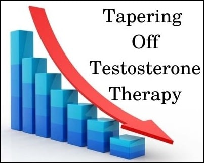 Tapering testosterone therapy