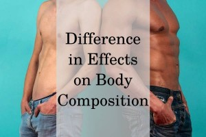 Difference in effects on body composition