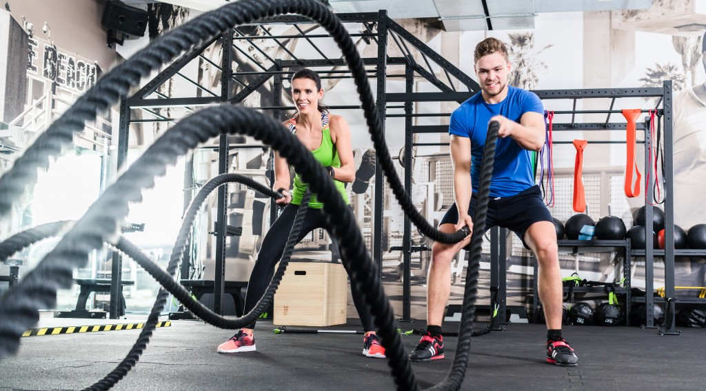 HIIT training of men and women