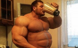 Bodybuilder high-calorie diet