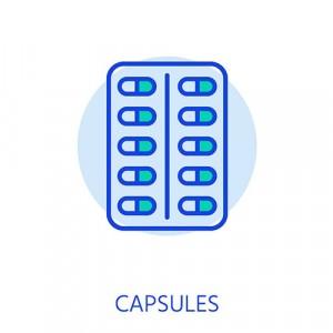 Testosterone capsules, pellets