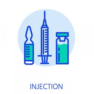 Testosterone injections with vials